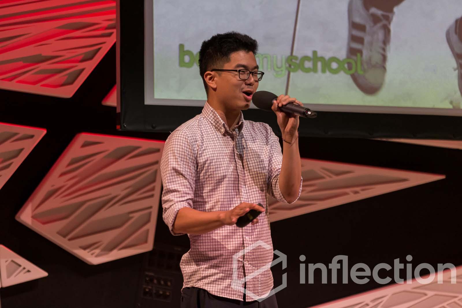 Holman Gao presents the business model for BoostMySchool