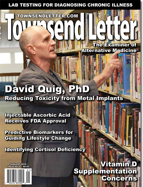 On the cover:   David Quig, PhD