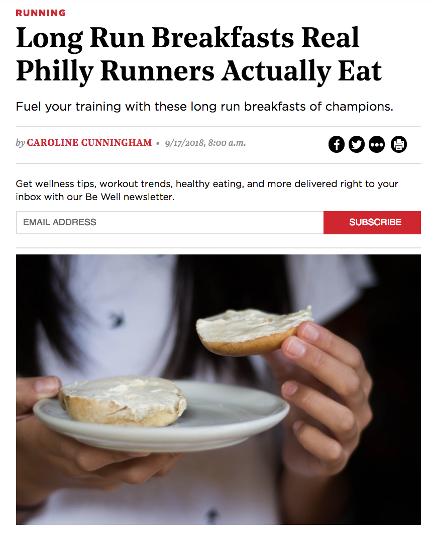 Fueling yourself with the proper foods before a big race or even a casual jog is super important! Check out Ali's favorite foods to eat before a long run! She knows a thing or two about the topic being a 4X Ironman Triathlete and Certified IRONMAN Coach. Thanks Be Well Philly!