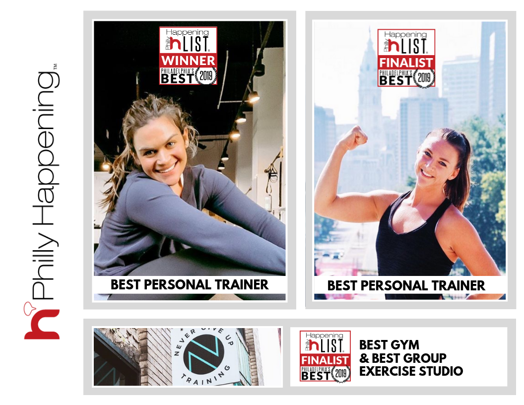 We're starting the week off on the right foot! Congratulations to Ali Cook Jackson for being named Philly Happening's 2019 Best Personal Trainer! We are so proud of our fearless leader. . Congratulations to Morgan Dowd for being named Best Personal Trainer runner-up! Your dedication and passion for the NGU and greater fitness community is so inspiring! . NGU was also named Best Gym and Best Group Exercise Studio runner-up. Thank you to everyone who voted and for all of your continued support!