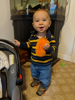 Isaac Julian, 1 year old son of Rich & Stephanie Julian, whose smile could light up the Sanctuary.