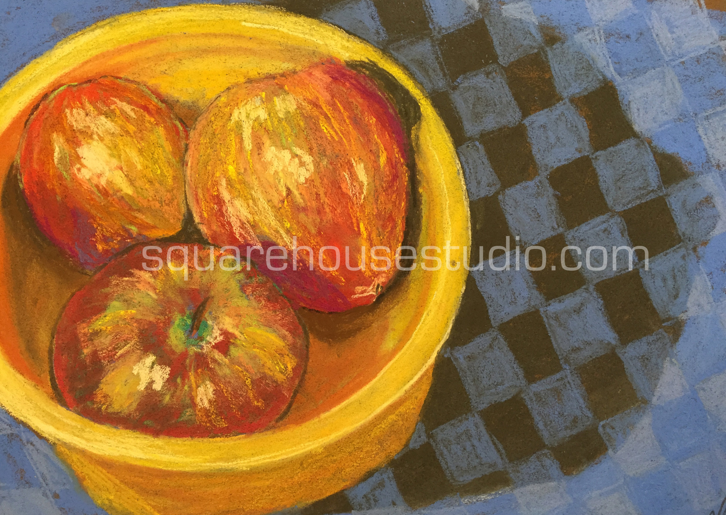 """Checkered Past , 11""""x 14,"""" $400, Available as a giclée print—$125 Framed / $70 unframed"""