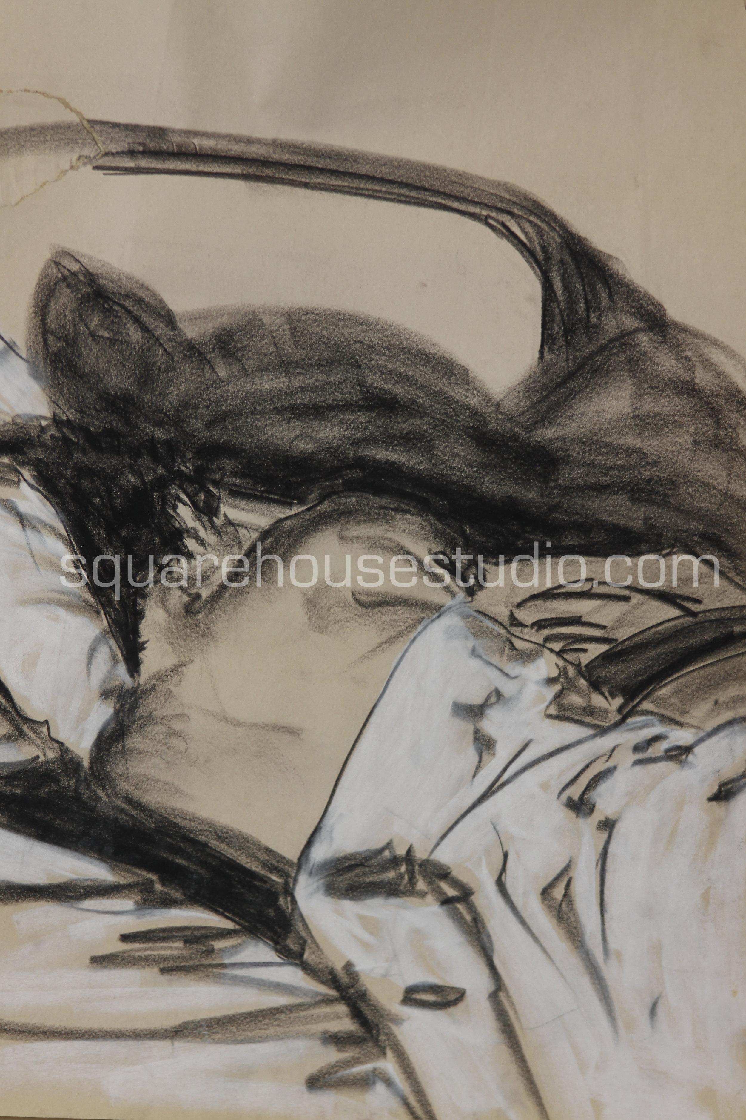 "Slumber , SOLD, 22"" x 32,"" Available as giclée print, $350 framed /$250 unframed"