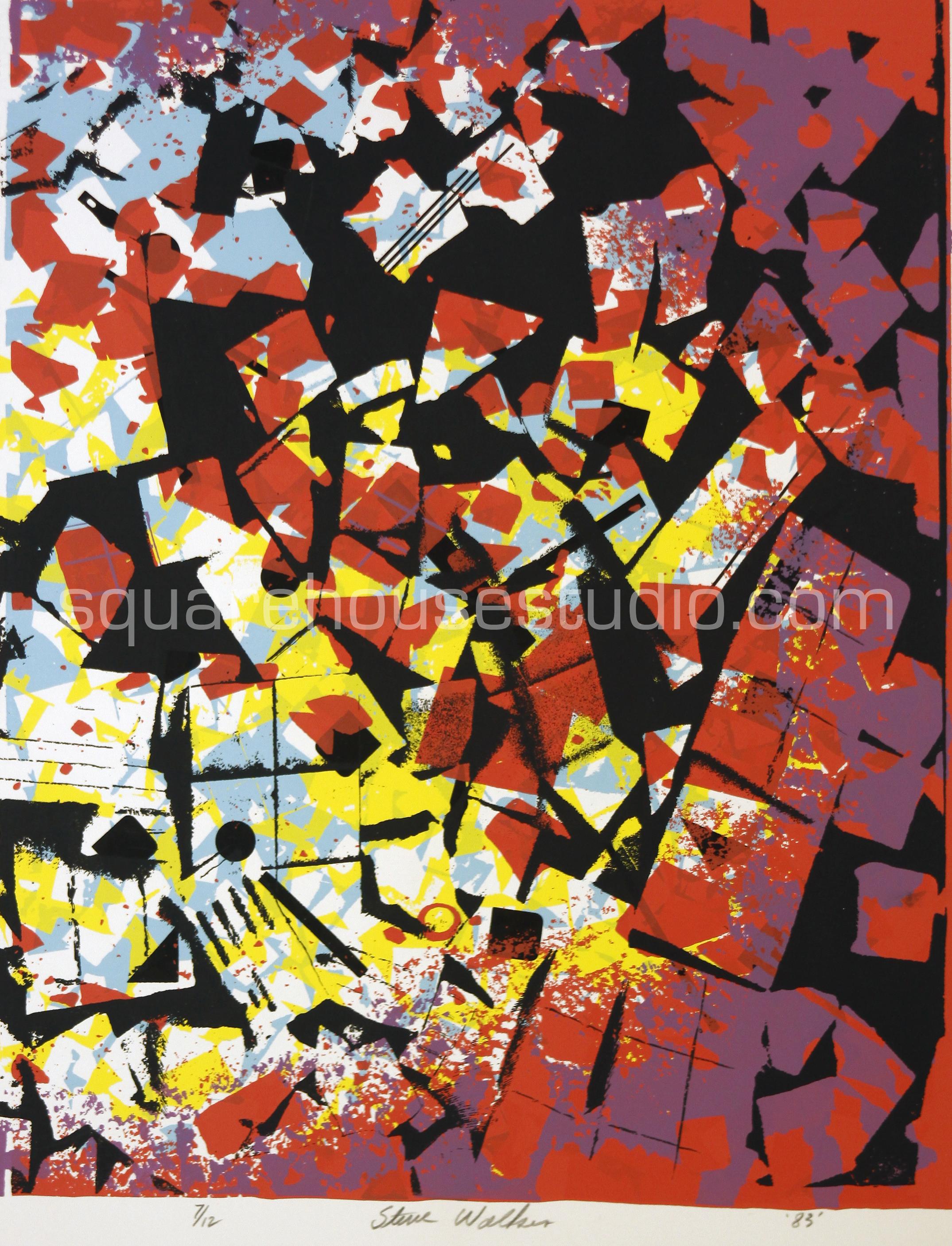 "Pink Tiles , 22"" x 32,"" original edition, $625 framed / $475 unframed, Available as giclée print—$450 framed / $300 unframed"
