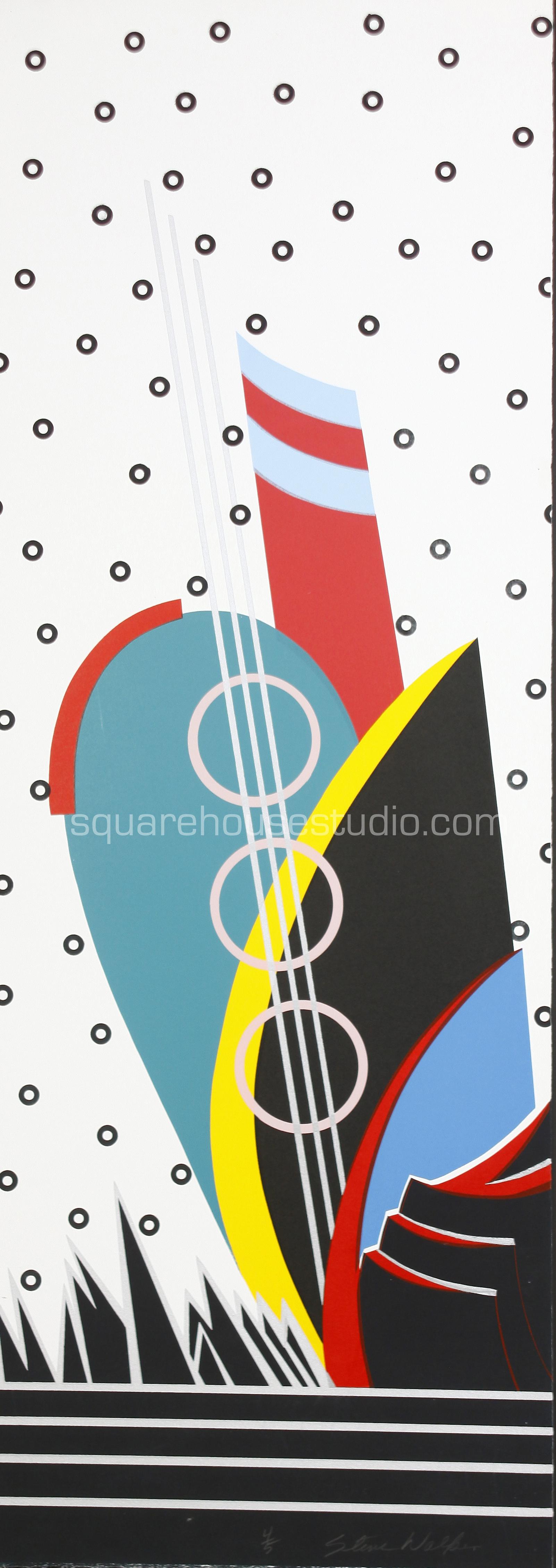 "Memphis Music , 16"" x 40,"" original edition, $625 framed / $475 unframed, Available as giclée print—$450 framed / $300 unframed"