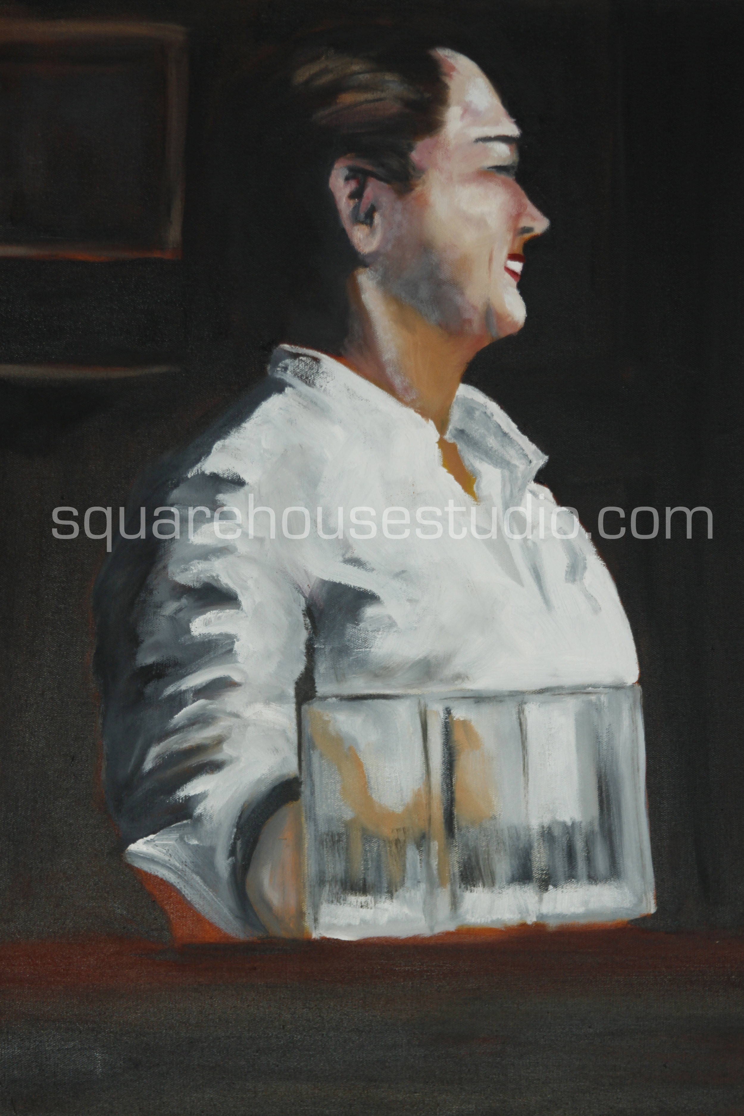 """Miss McSorley , 24""""x36"""" NFS, oil on canvas, Available as a giclée print."""