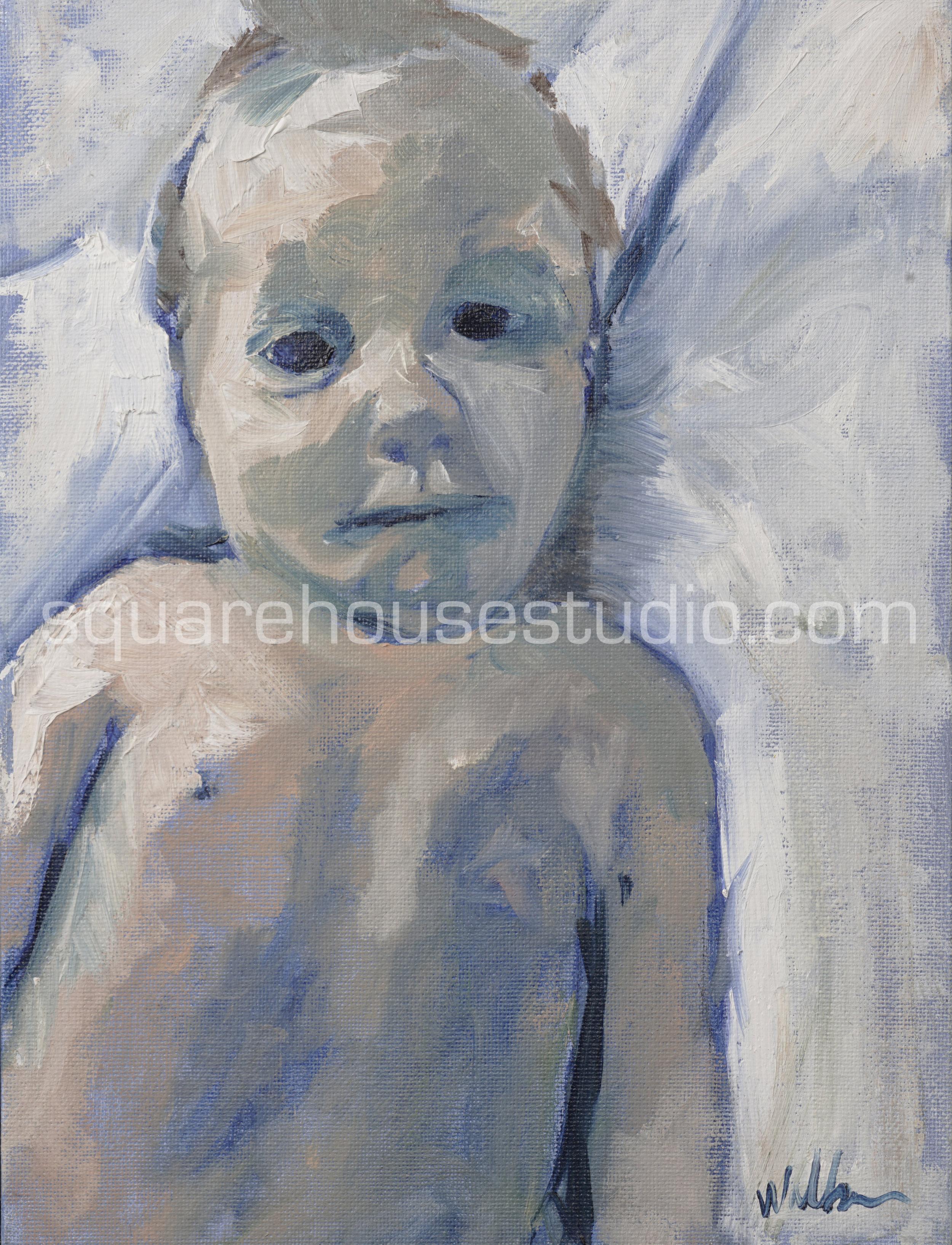 """Oh Jacky , 9"""" x 12"""" oil on canvas, NFS."""