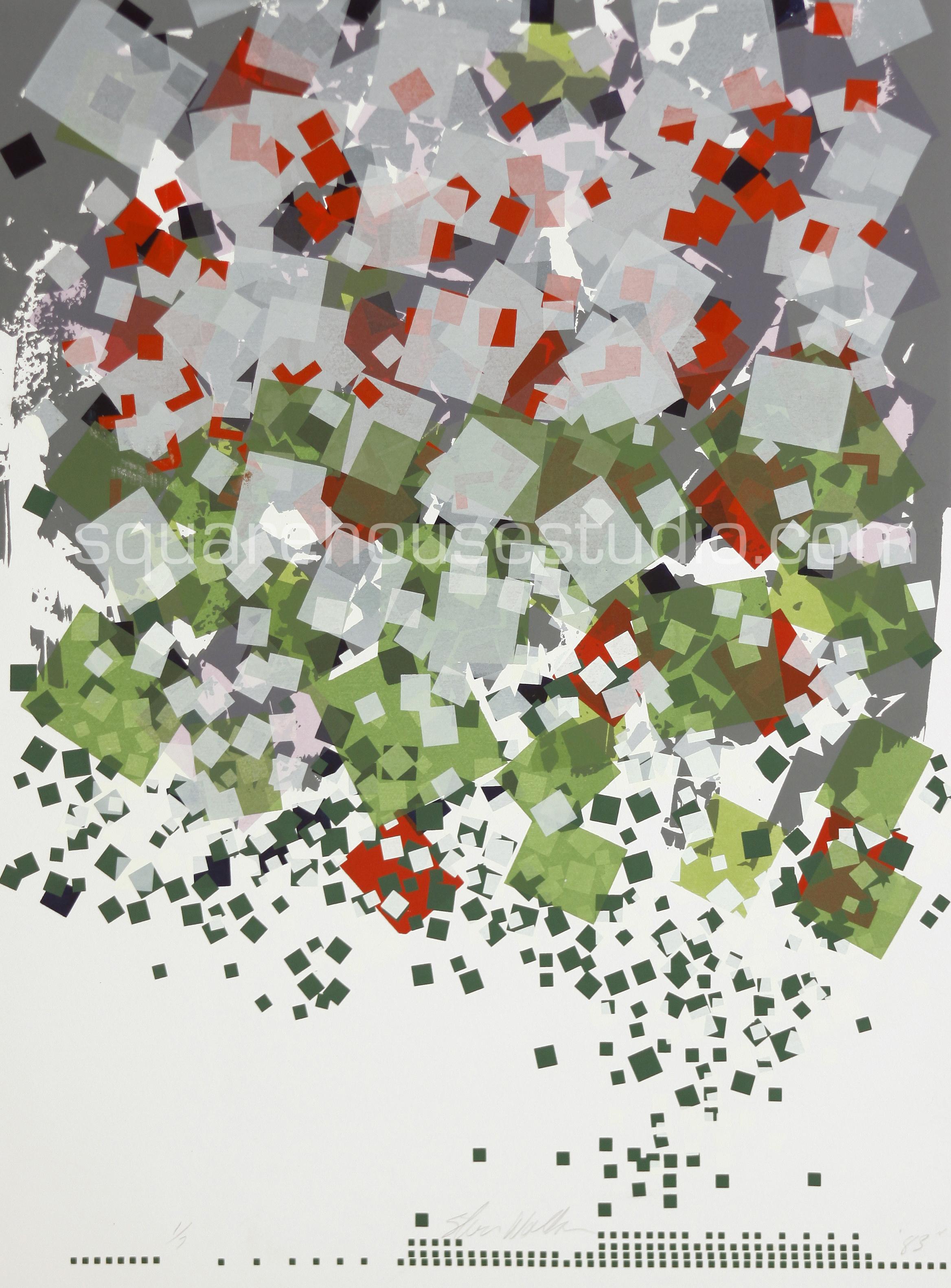 "Confetti , 22"" x 32,"" original edition, $625 framed / $475 unframed, Available as giclée print—$450 framed / $300 unframed"