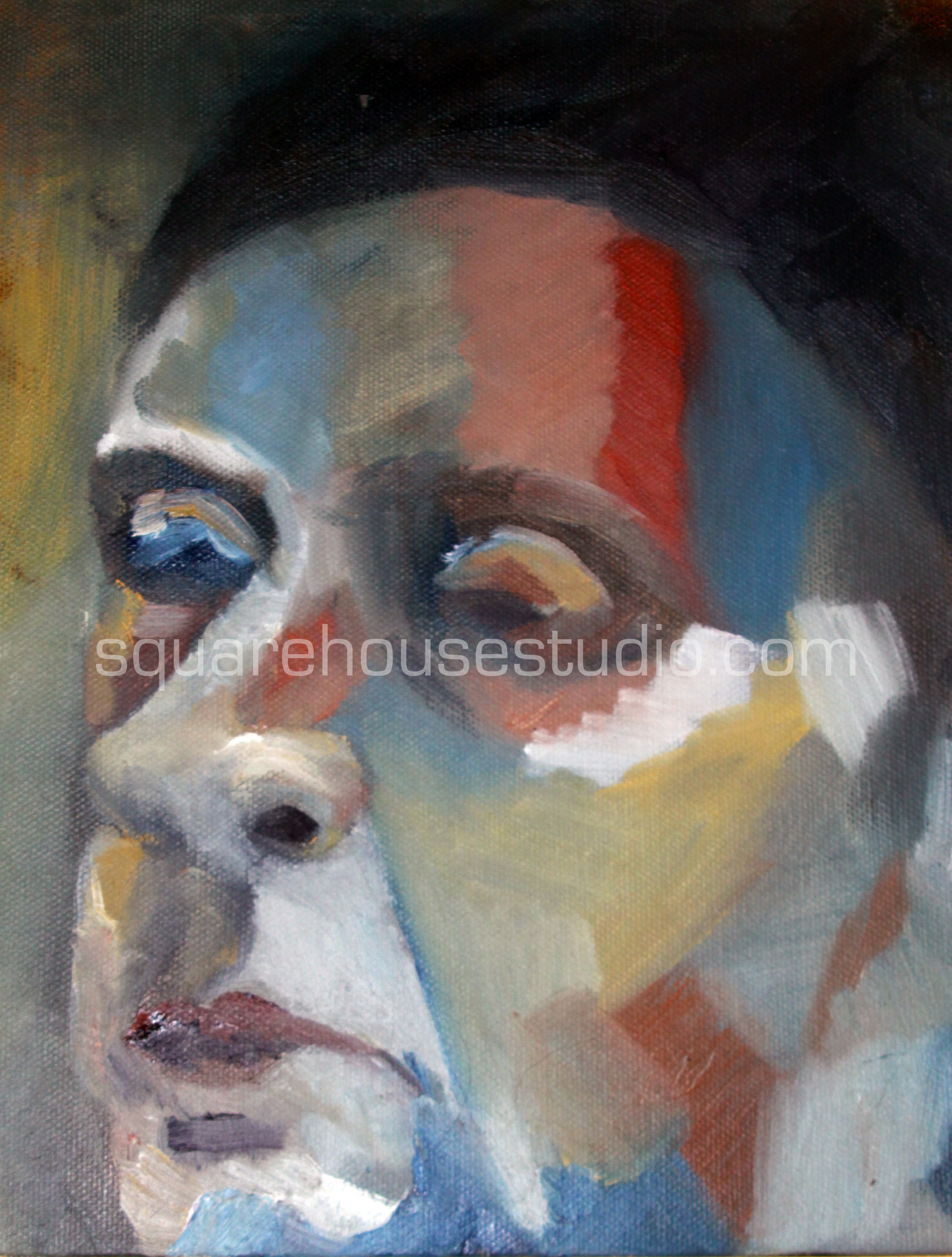"""Golda , SOLD, 8""""x10"""" Oil on canvas."""