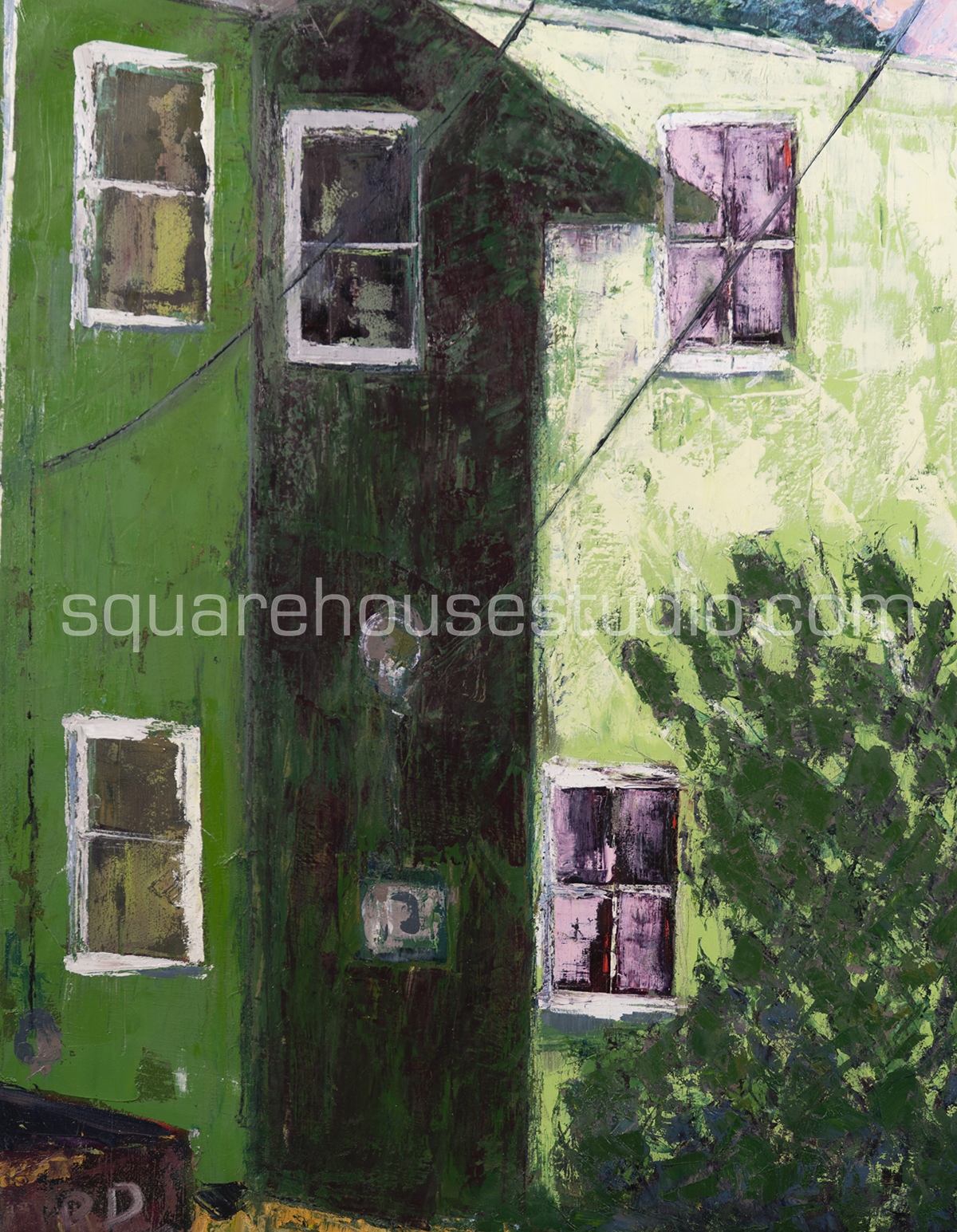 Green Gables , 30x24 inches; oil on canvas; $700 framed.