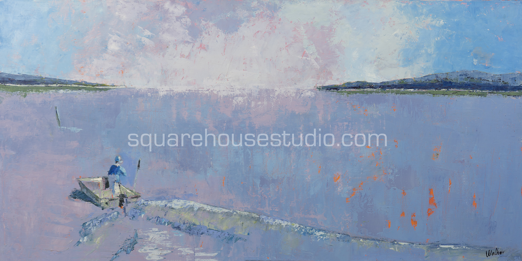 SOLD—First Light , 24x48 inches; oil on canvas.
