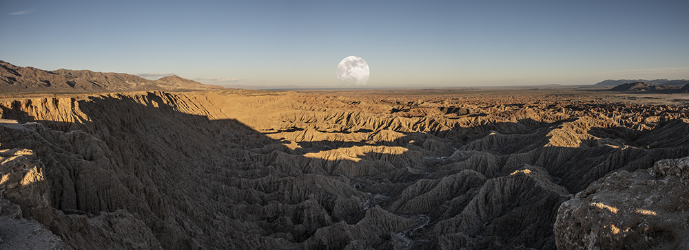Full Moonrise - a composite of four images