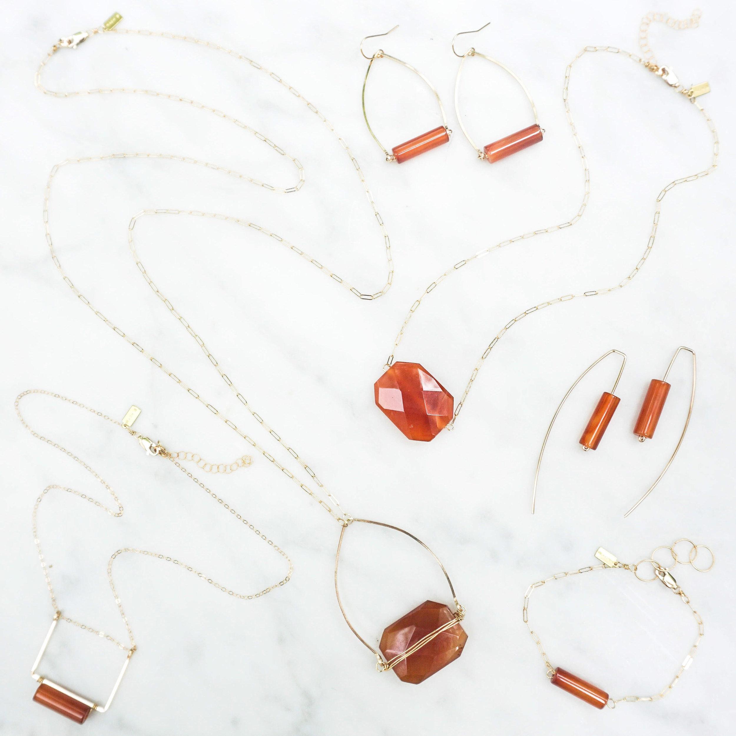 University of Texas UT Burnt Orange Carnelian Jewelry + Accessories  $45-$110