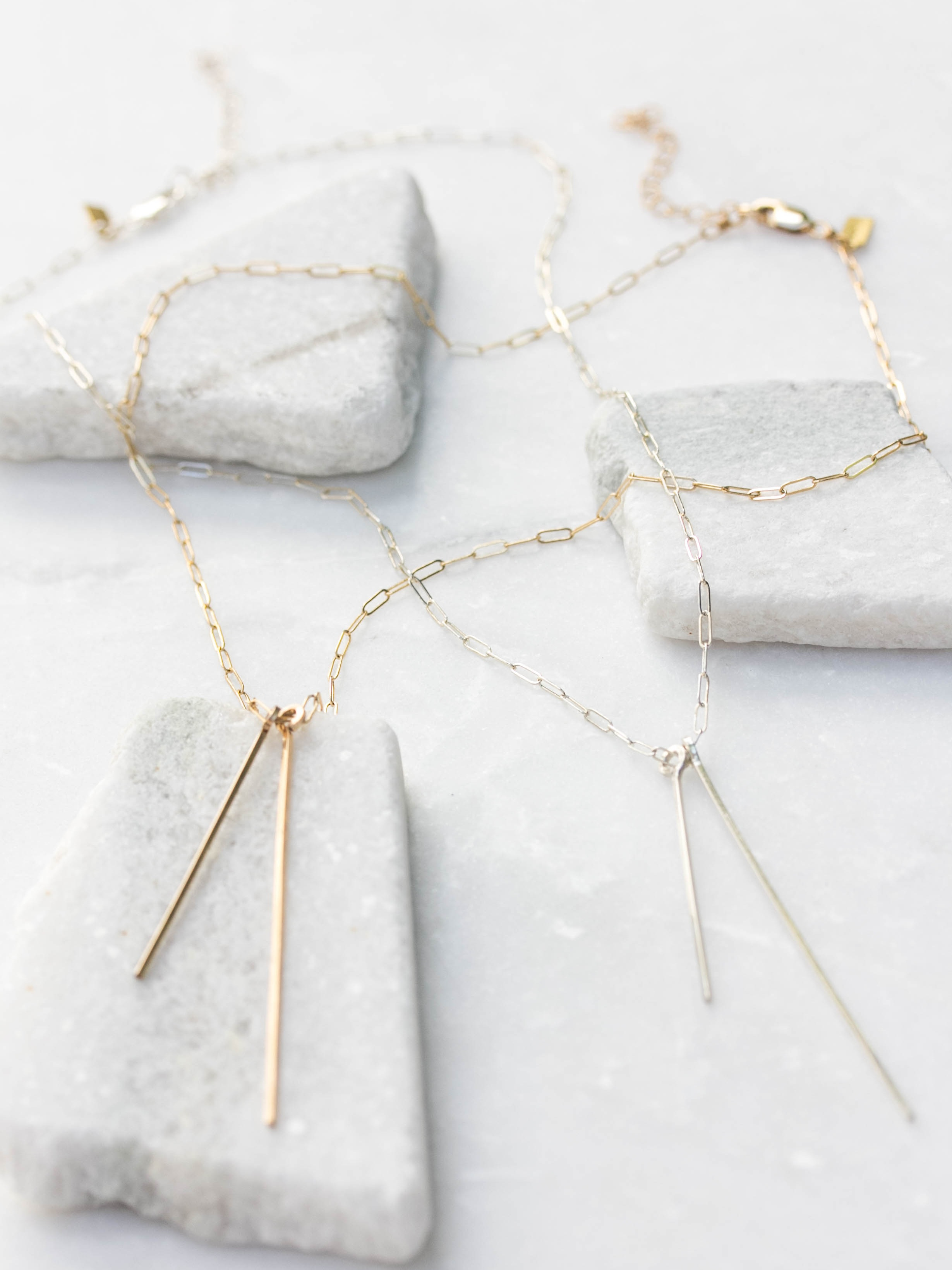 Double Bar Necklace $70