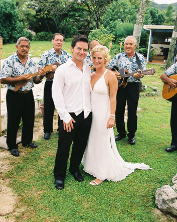 Liz & Andrew<br>Married in Rarotonga 2006