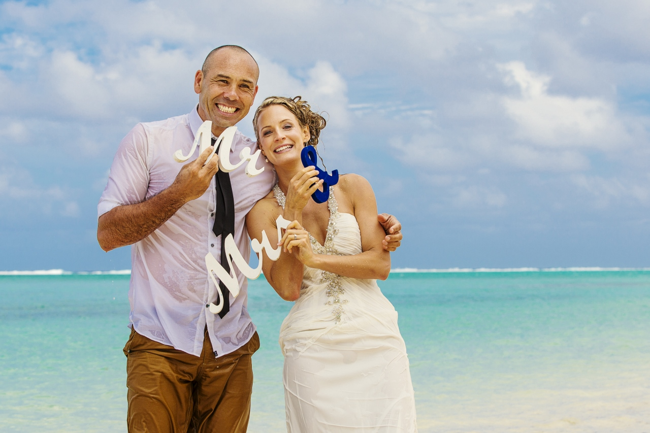 Feline & Craig<br>Married in Rarotonga, September 2013