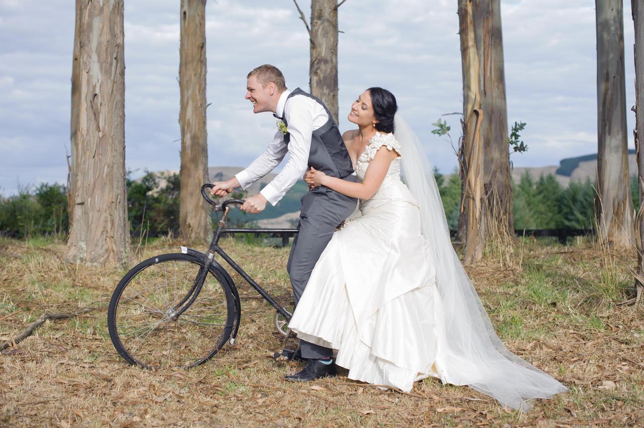 Esta & Bevan<br>Married in Kinloch, Taupo March 2013