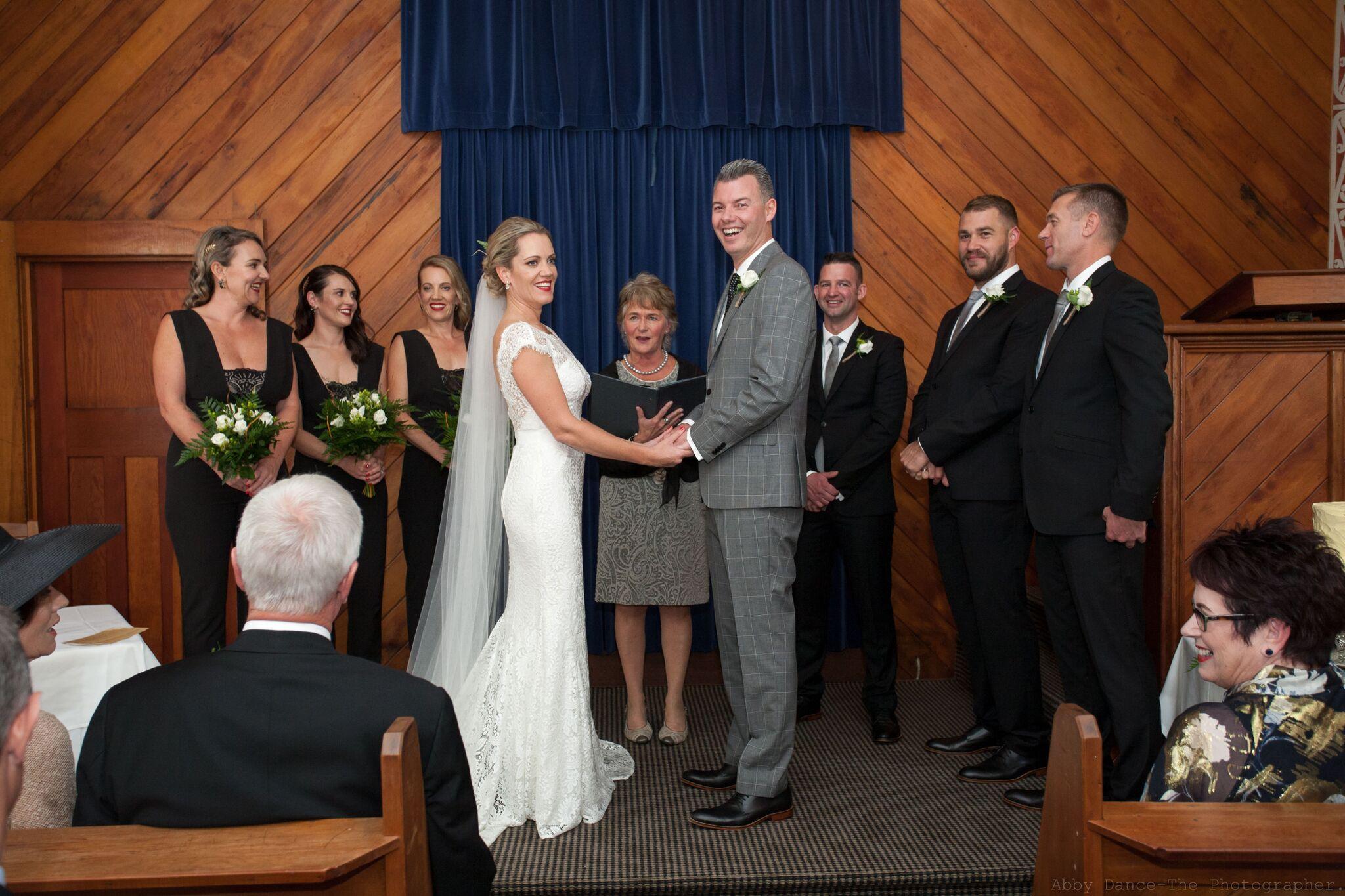 Cleo & David<br>Married at Huka Falls Resort, April 2017
