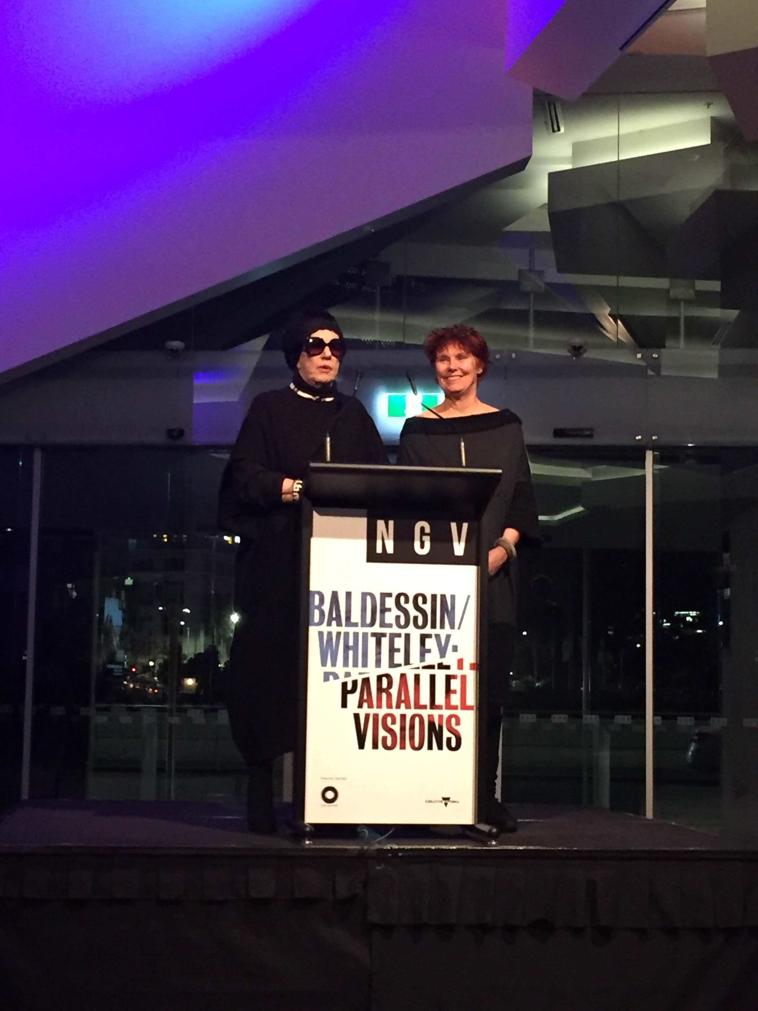 Wendy Whiteley and Tess Edwards-Baldessin