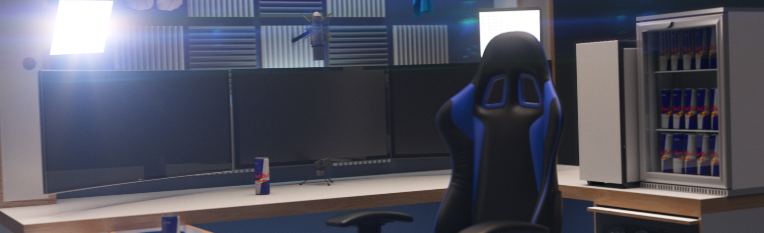 SOKRISPYMEDIA visual effects Twitch Streamer Ninja Redbull Room by Sam Wickert 3