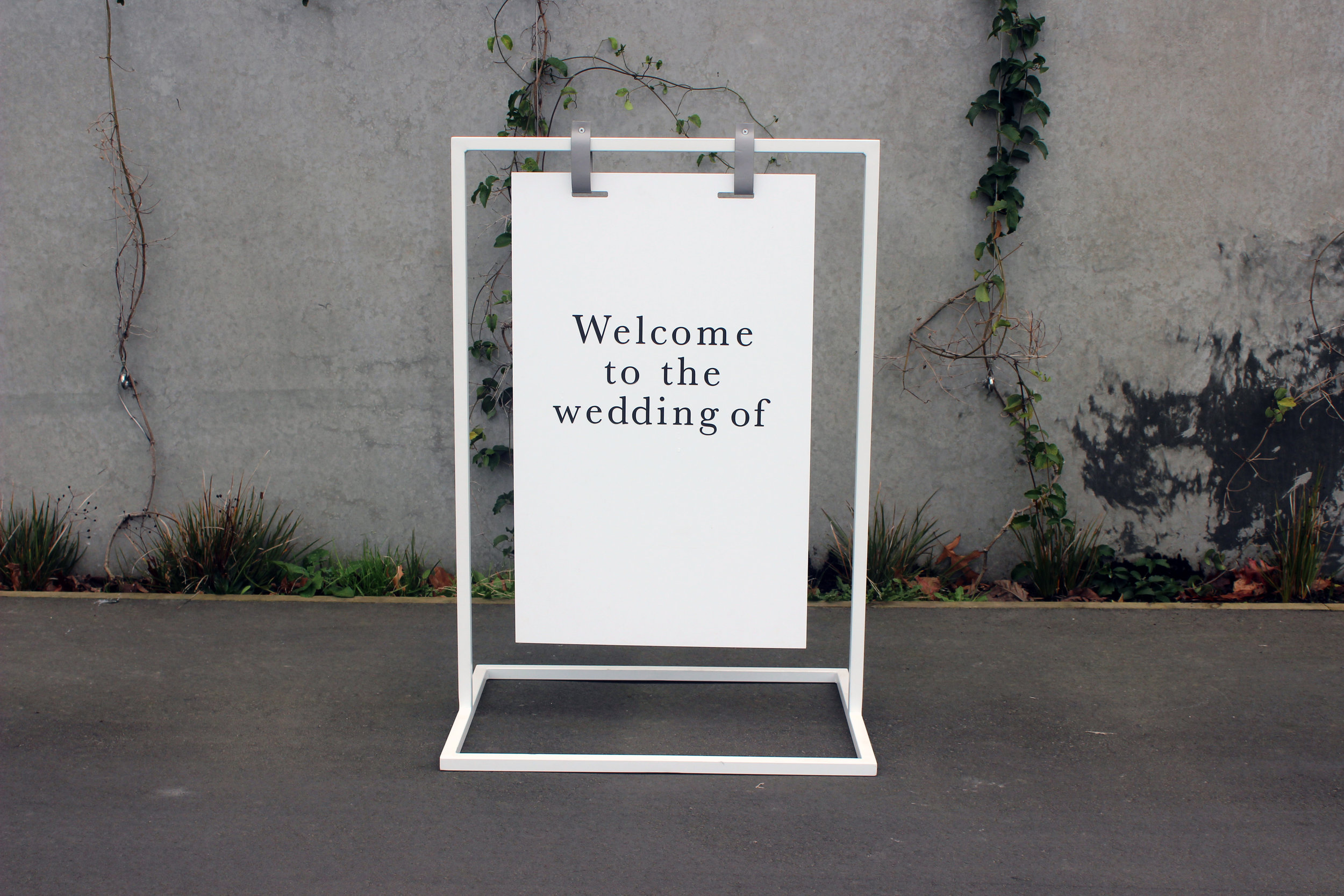 SMALL SIGNAGE STAND - 70cm wide x 1m highIncludes matte white acrylic, can be customisedPOA