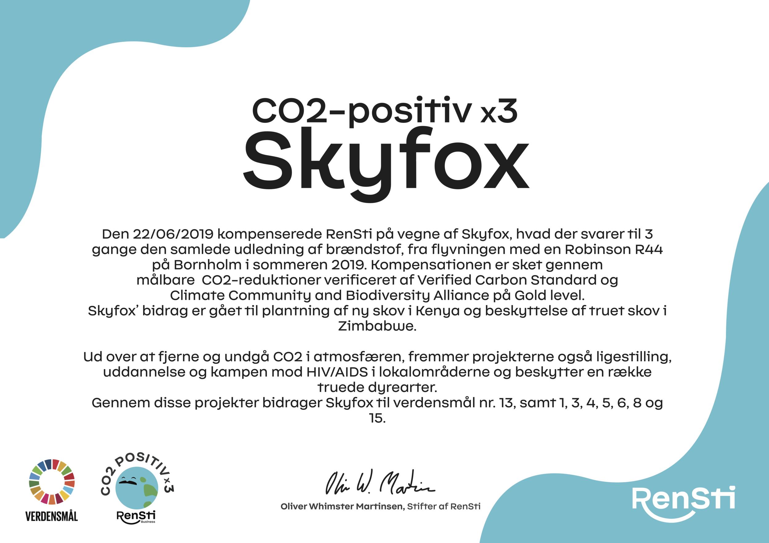 Skyfox certificate.png