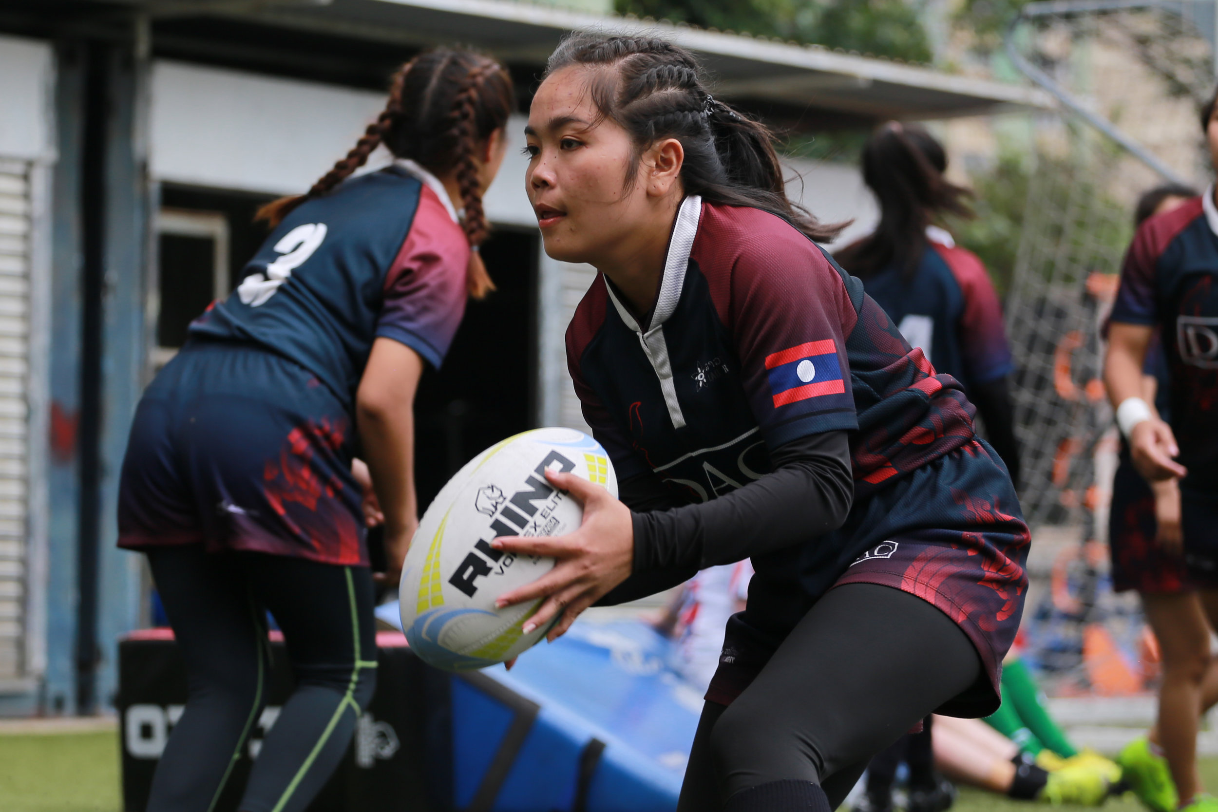 Maem is a member of the Vientiane Lions Women's Rugby Club and represented Laos at the Asia Rugby 7s Trophy, leading to a 19-0 victory against Qatar.