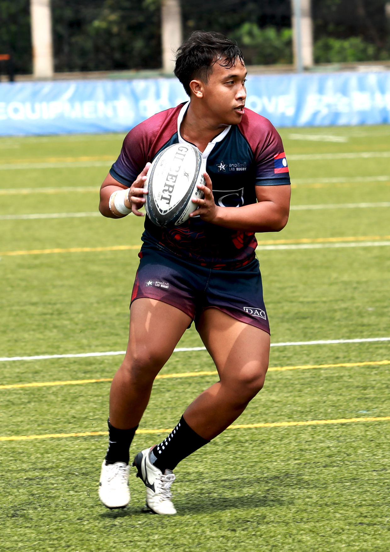 Lay, a crucial member of the local Vientiane Wild Hogs, represented Laos as part of the DAC Lao National Team in the 2019 and the 2018 Asia Rugby 7s Trophy tournaments held in Indonesia and Singapore respectively.