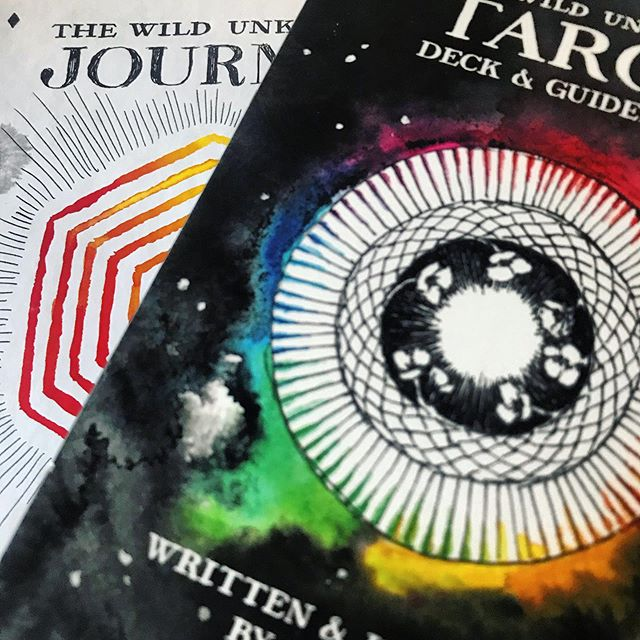 Some stuff arrived today @the_wild_unknown tarot cards and journal. Cards have been cleansed (with @lalunehealing purify + protect smudge spray) and used for reading, and I can't wait to start using the journal  #wildunkowntarot #tarot