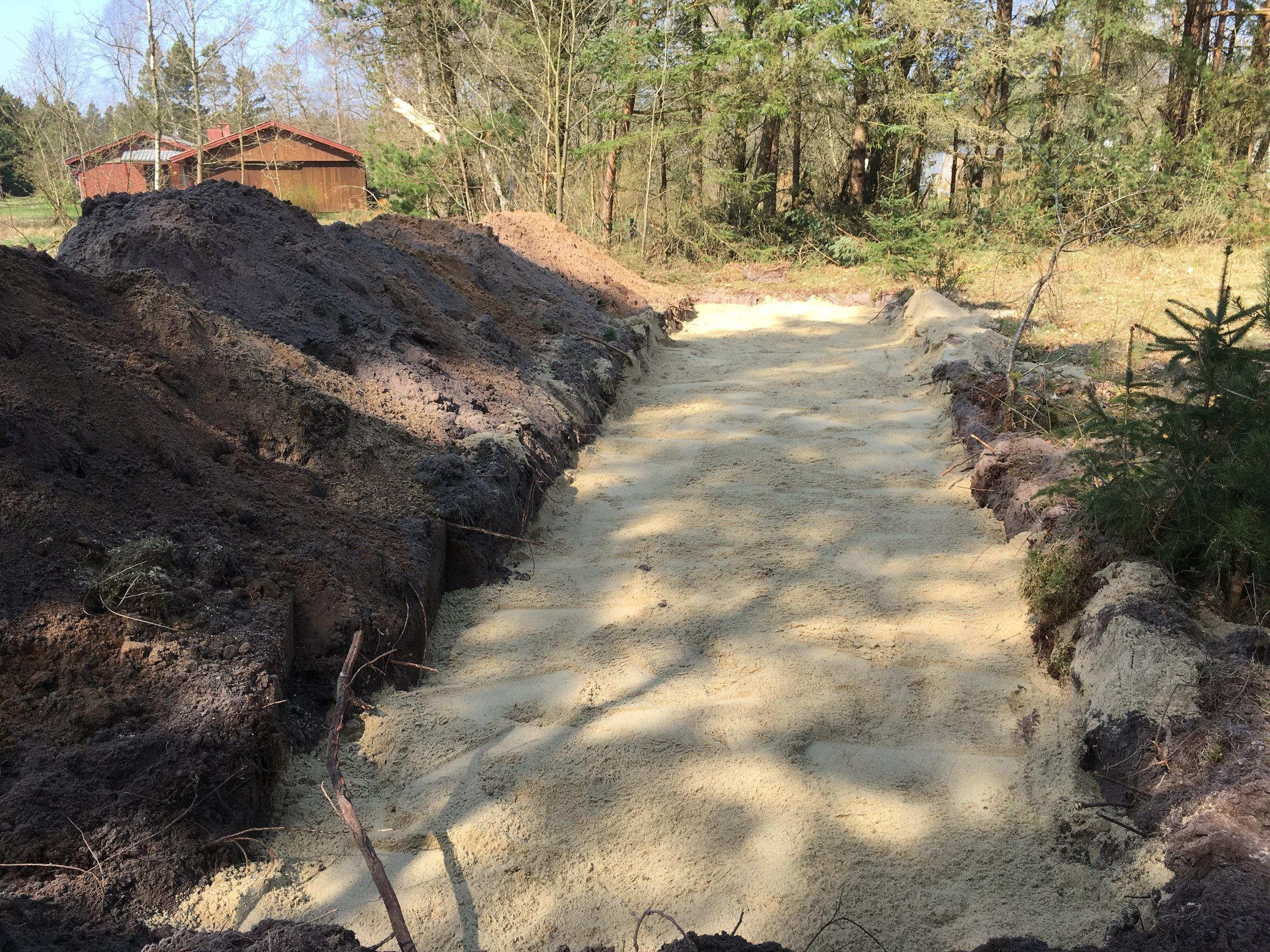 Udlægning af filtersand
