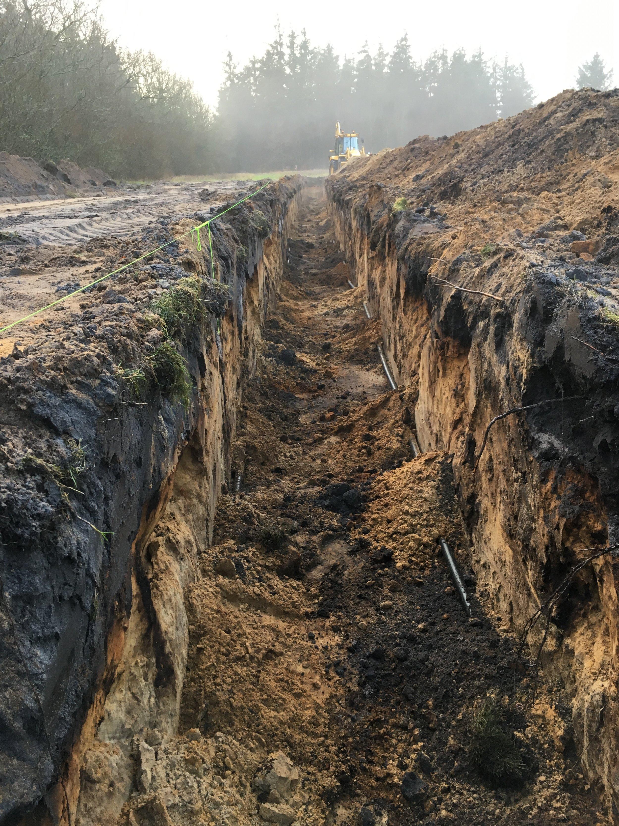 Til nedgravning af jordvarmeslanger
