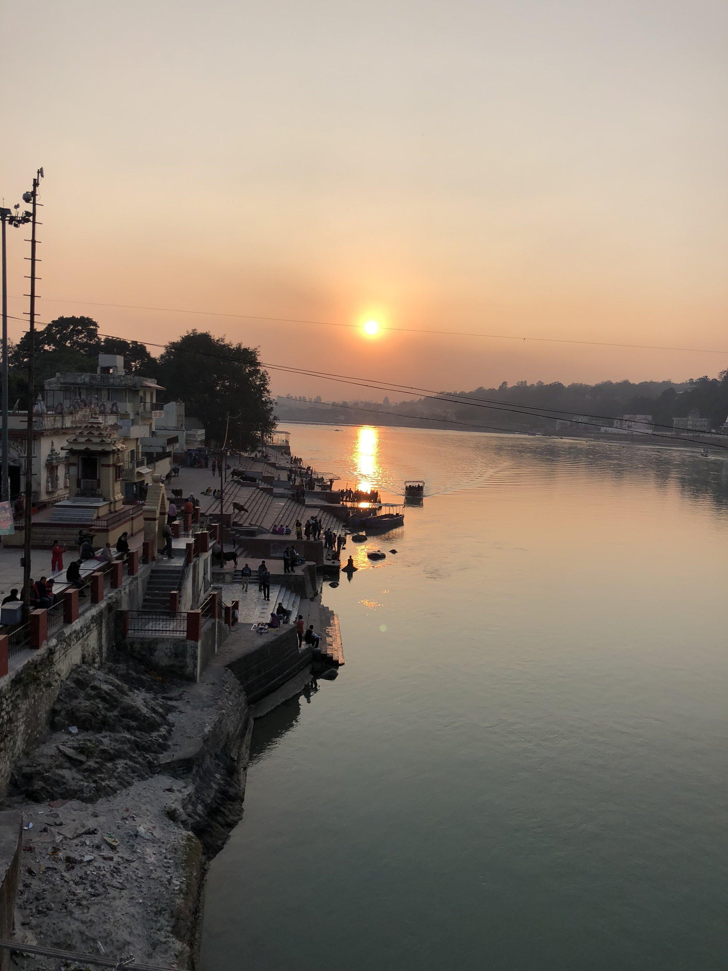 Sunset in Rishikesh 2018