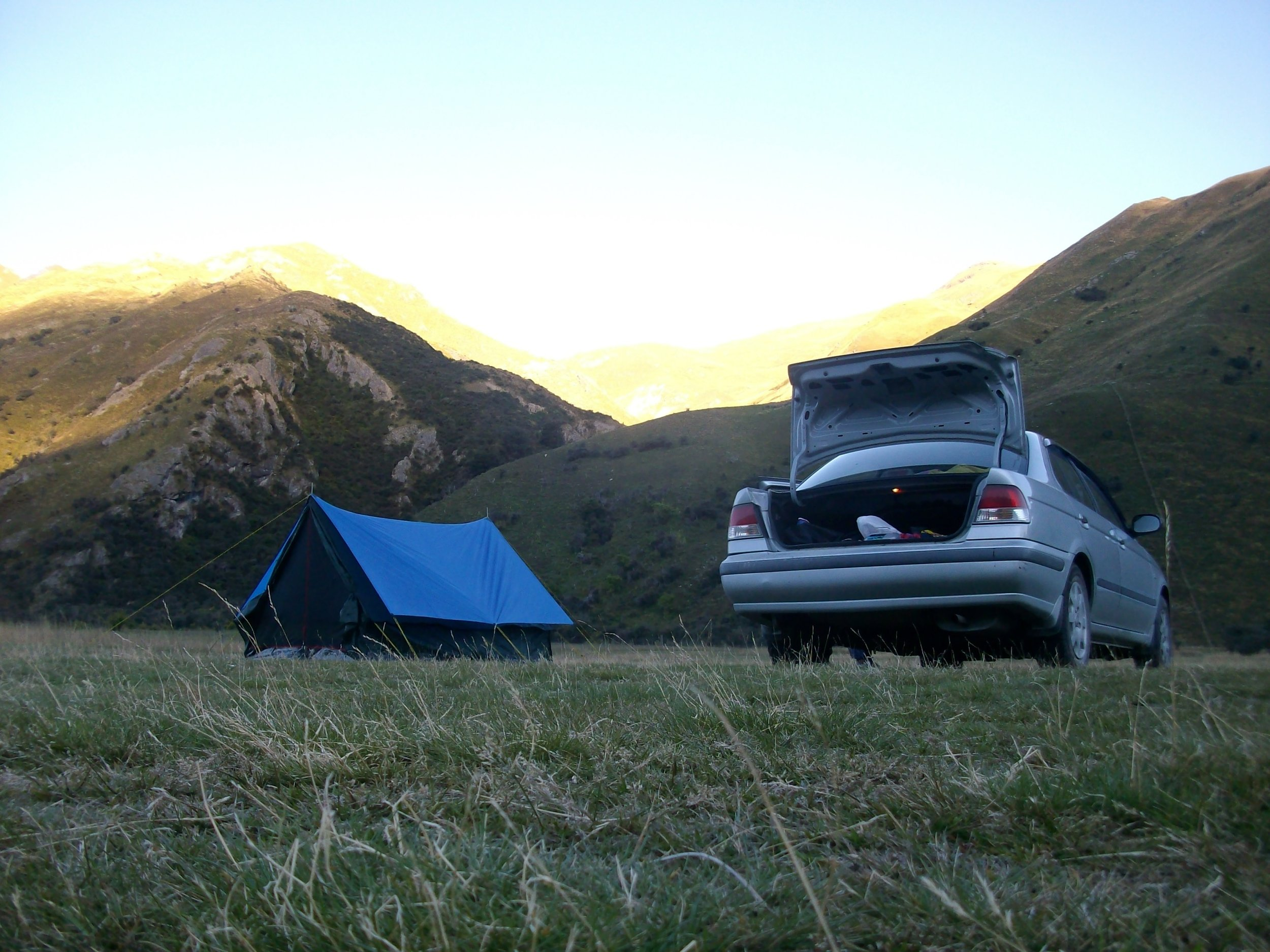 Life in a tent in New Zealand