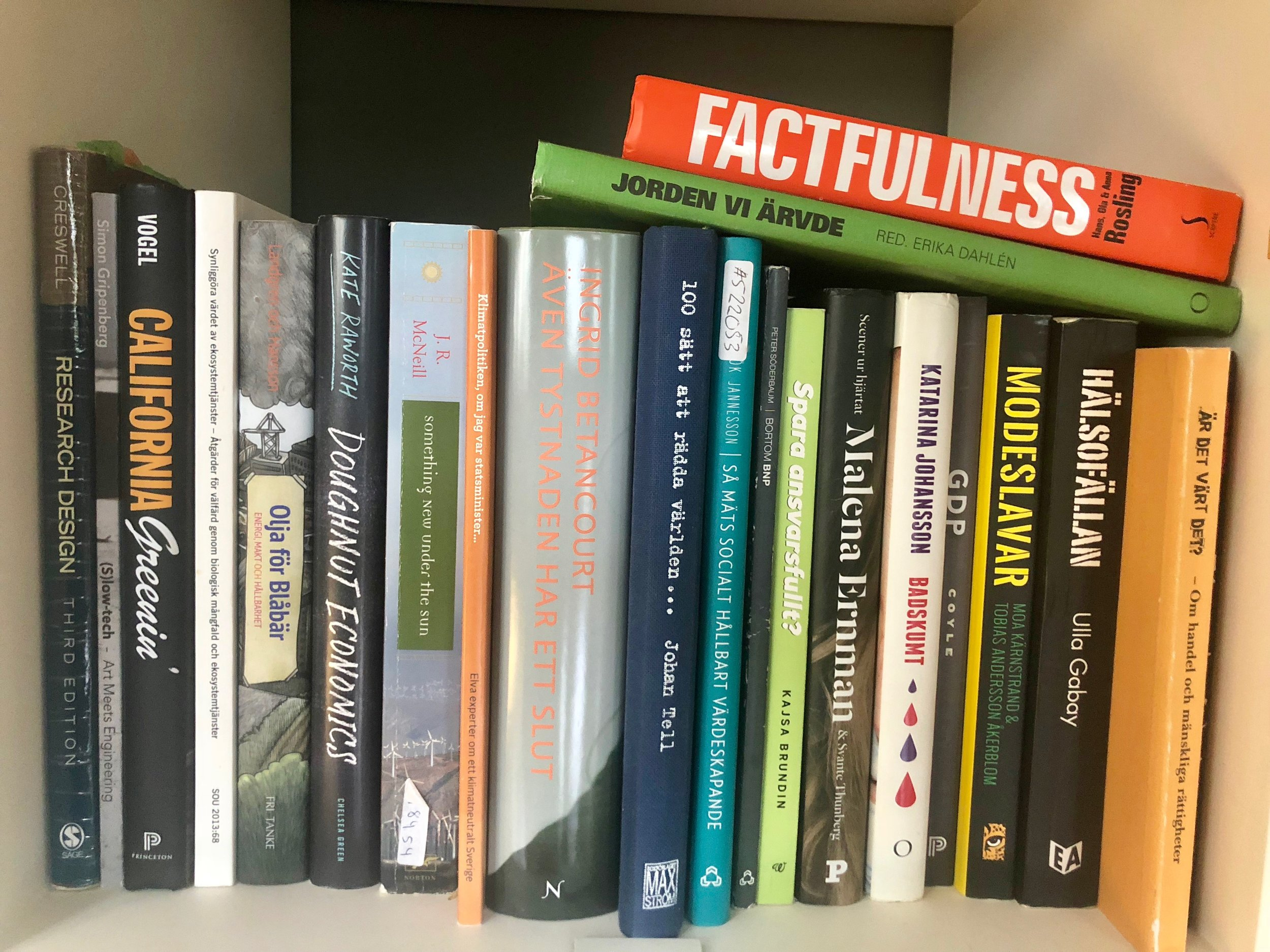 Photo: Some of my books at home