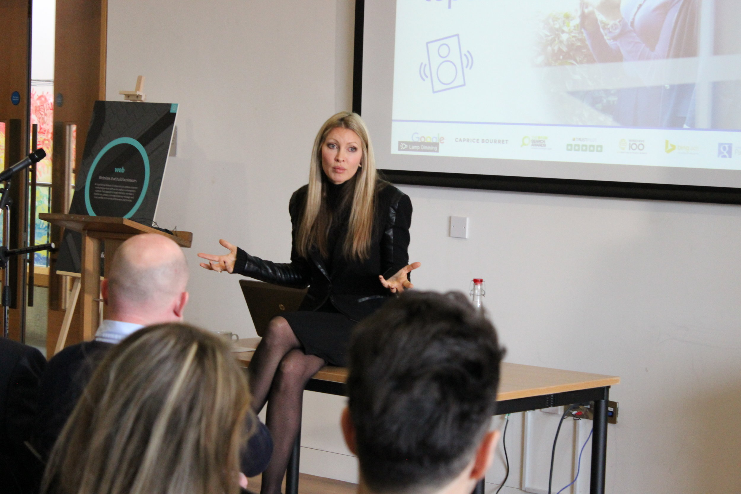 TOP CLICK CORPORATE EVENT - Caprice was the keynote speaker at the corporate event. She spoke for 1.5 hours focusing on marketing strategies for.2016