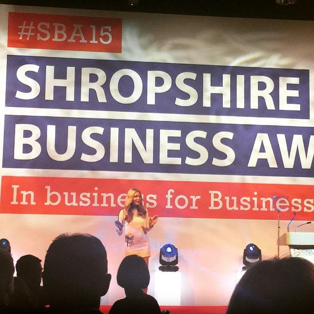 SHROPSHIRE BUSINESS AWARDS - Key note speaker at the Shropshire Business Awards.2015