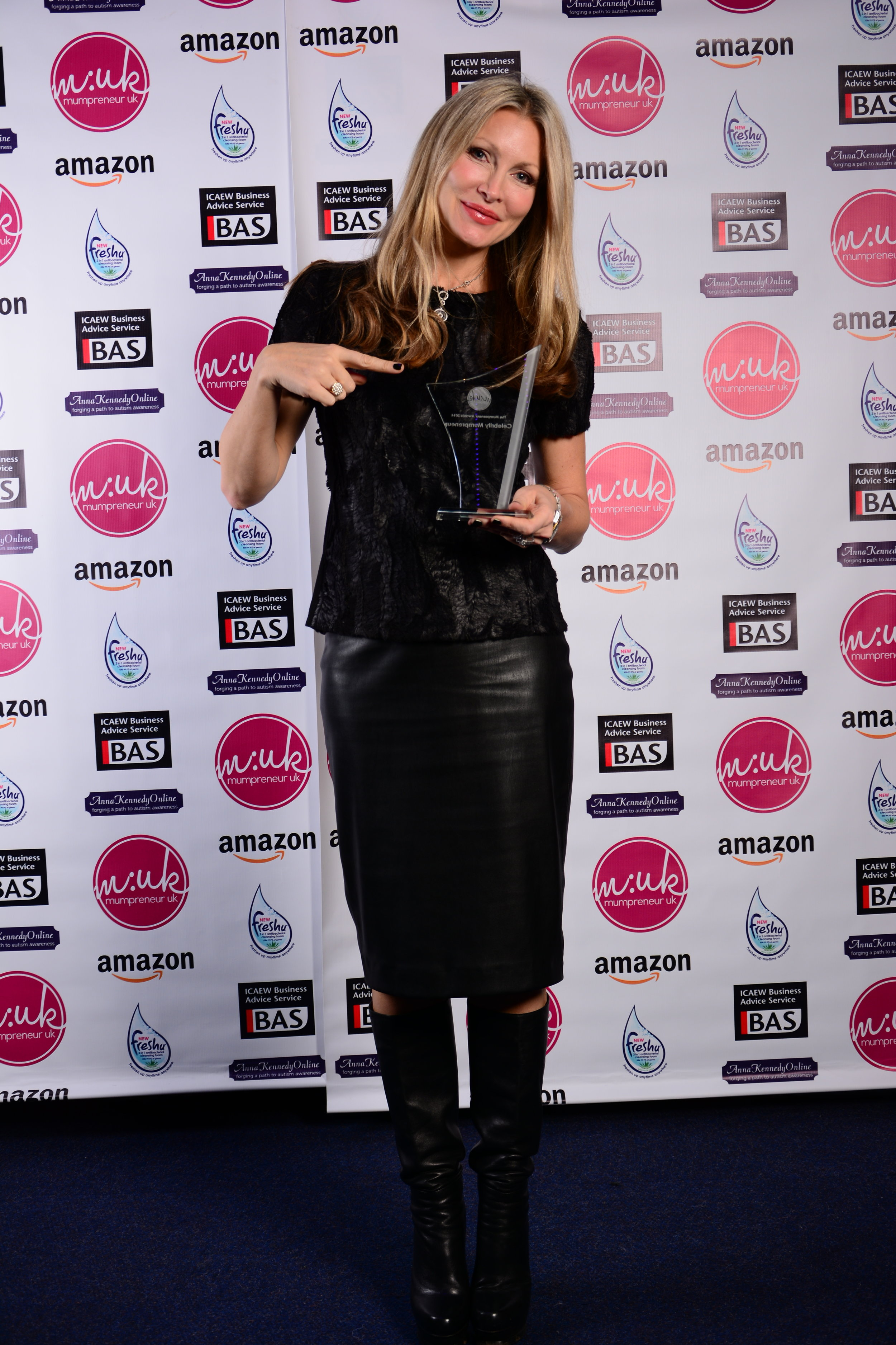 MUMPRENEUR CONFERENCE AND AWARDS - Caprice won 'Celebrity Mumprenuer of the Year' and spoke to 250 of the crème-de-la-crème parent owned businesses at the industry renowned Mumpreneur Conference & Awards.2015