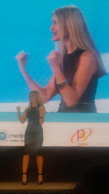 """MINDSHARE CONFERENCE DUBAI - Keynote speaker in front of 400 entrepreneurs and business leaders about the """"What's Hot? Being Agile in Today's Marketplace,""""…streaming live to 847,000 people, #Msagile was trending during her 45 minute speech. Other speakers included Daniel Sieberg, Ruud Gullit and Josh Klein.2014"""