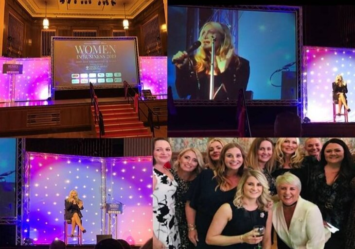 WOMEN IN BUSINESS AWARDS - Caprice delivered a Keynote speech at the Women In Business Awards 2019 in Swansea. Celebrating the wonderful women in business. 2019