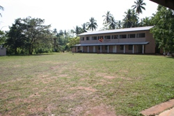 The new classroom and Assembly Hall block which has transformed the school