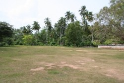Grounds that get water-logged in the monsoon rains