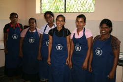 The team of mothers which cooks the meals each day