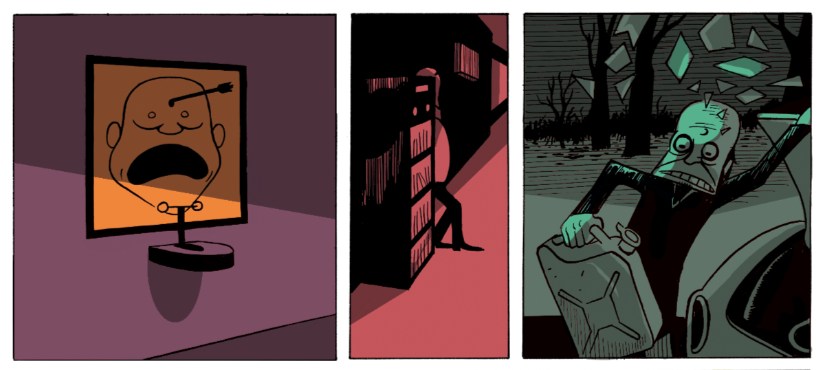 andre-slob_silkscreen_arrow_print_illustration_comic_strip.jpg
