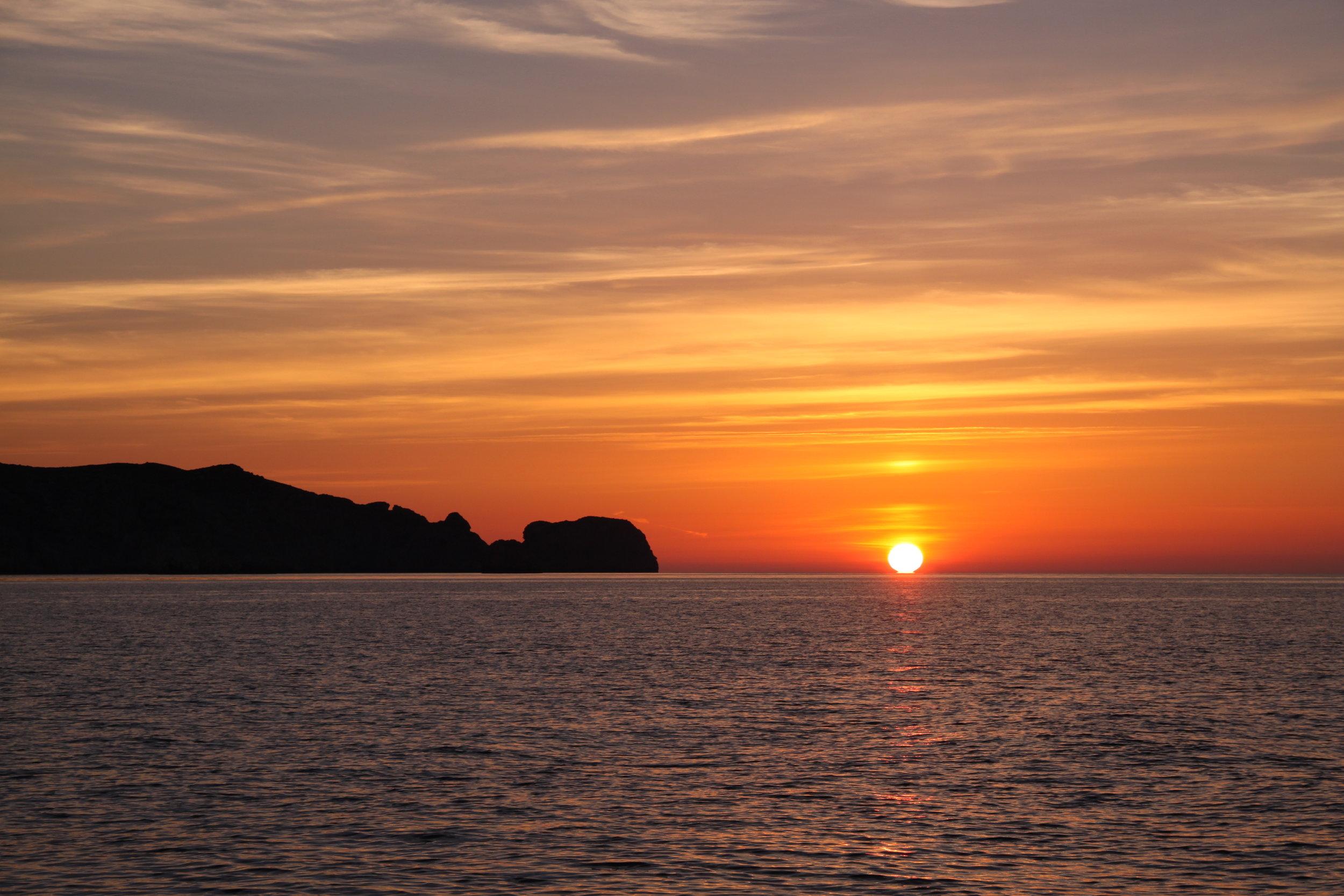 Sonnenaufgang vor CABRERA