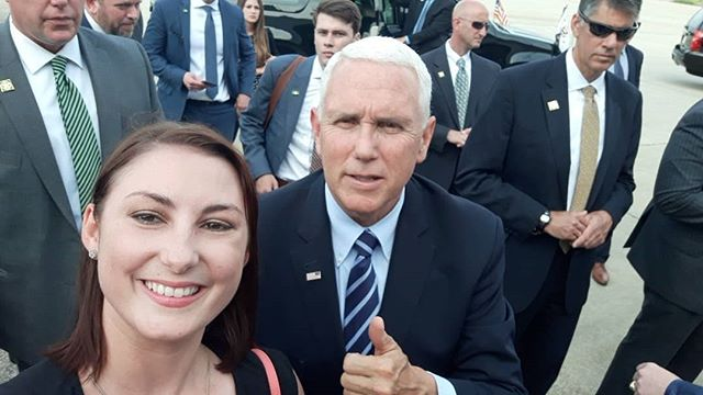What an incredible experience... and such a honor to have been invited to welcome our @vp Mike Pence to @cityofgreensboro! So many TARs, CRs and YR-aged patriots showed up excited to welcome everyone.