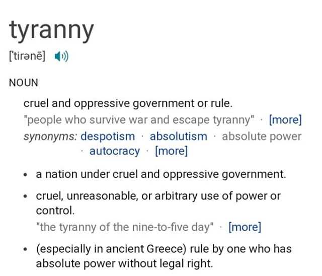 #wordoftheday Tyranny. Did you know this is still fought against today? At the local level, in party politics, and even in social clubs. Today, I'm grateful for our #foundingfathers who gave up everything to create this great nation. #YRsLead #YRsWin #LeadRight #whyGOP