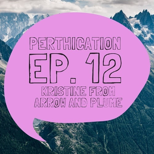 On today's episode of #perthication we chat with @arrowandplume aka @kristineragus . We take a stab at living small and within our means, about where inspiration comes from and everything else under the sun!  You can find it in our link in the bio, on our YouTube channel (search Perthication) iTunes or on any and all podcast apps! 🎙️