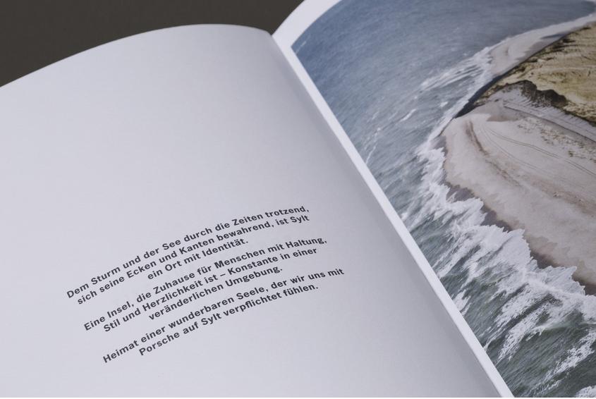 Ziel einer Reise - Konzept, Text & Redaktion - Porsche auf Sylt - Print