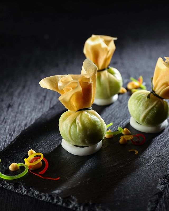 Our Edamame Truffle Moneybags are smooth, flavourful and enhanced with truffles of course!  Dip them with our signature in-house sauces, to complete the experience.  For reservations, contact: 7715963030 . .  #KOKO #KOKOMumbai #AsianCuisine #Restaurants #FineDine #BeautifulCuisine