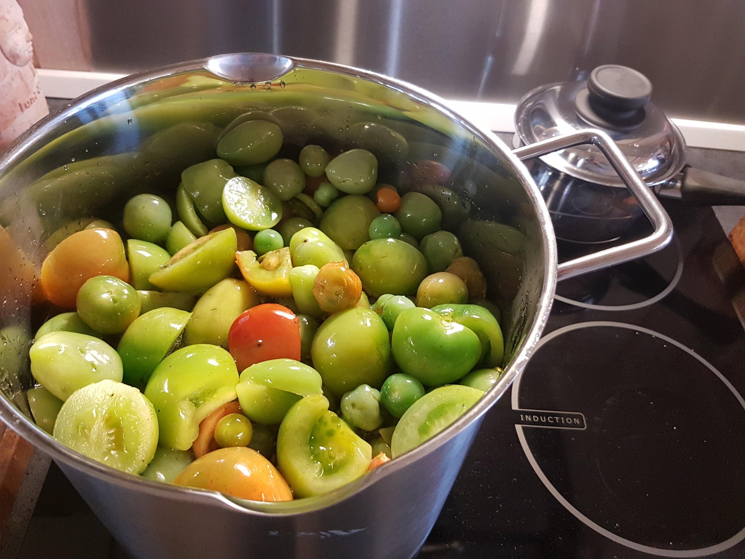 Syltning af grønne tomater